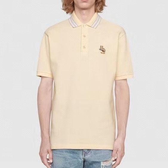 구찌 2021 캣와펜 스트라이프 카라 폴로 티셔츠 - 레플킹