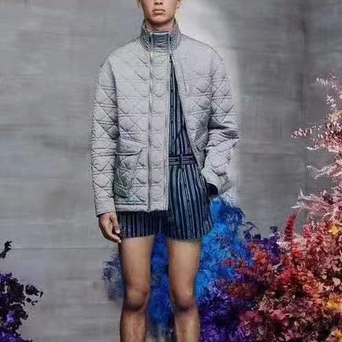 디올 아가일 엠보 패턴 더블지퍼 자켓 - 레플월드
