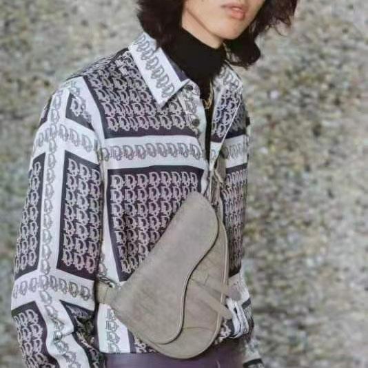 디올 오블리크 체크 패턴 셔츠 - 레플월드