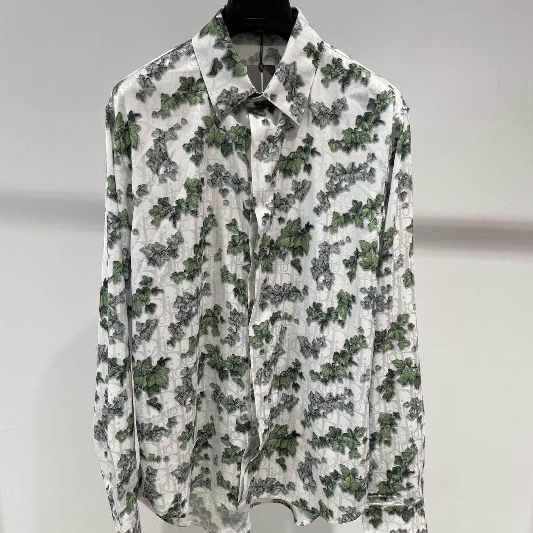 디올 리프 오블리크 패턴 셔츠 - 레플월드