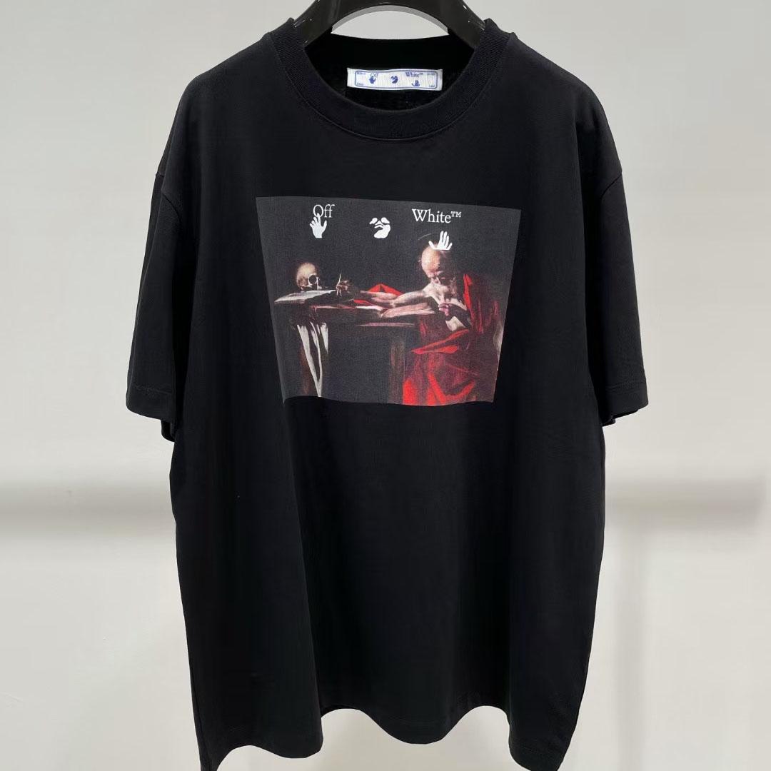 오프화이트 카라바지오 반팔 티셔츠 - 레플월드