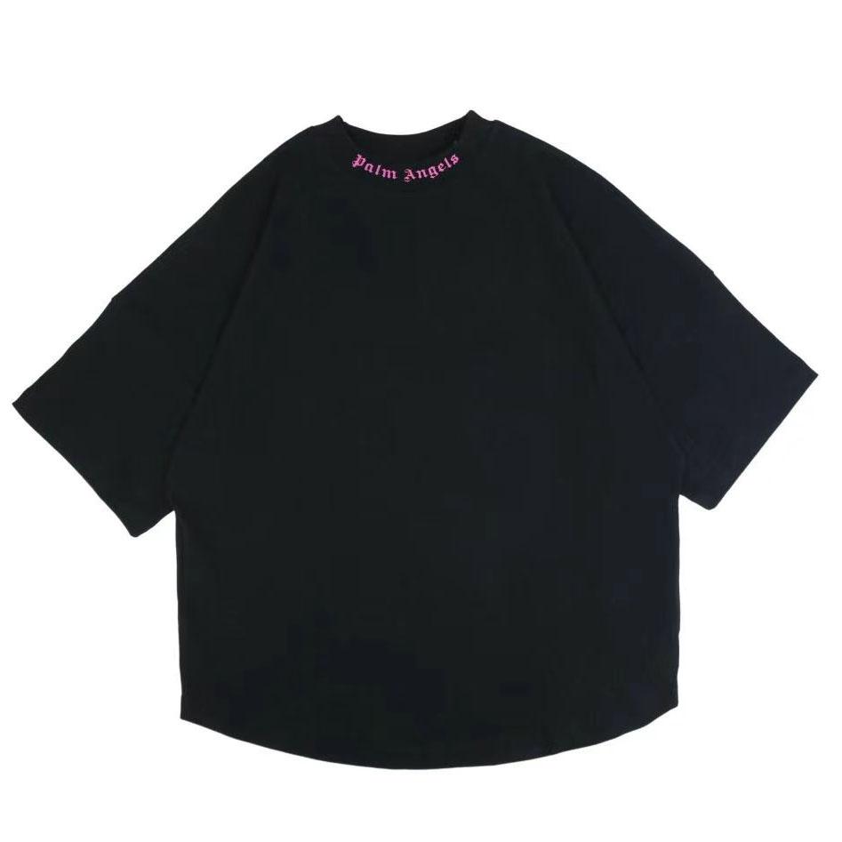 팜엔젤스 핑크로고 프린팅 오버핏 반팔 티셔츠 - 레플월드