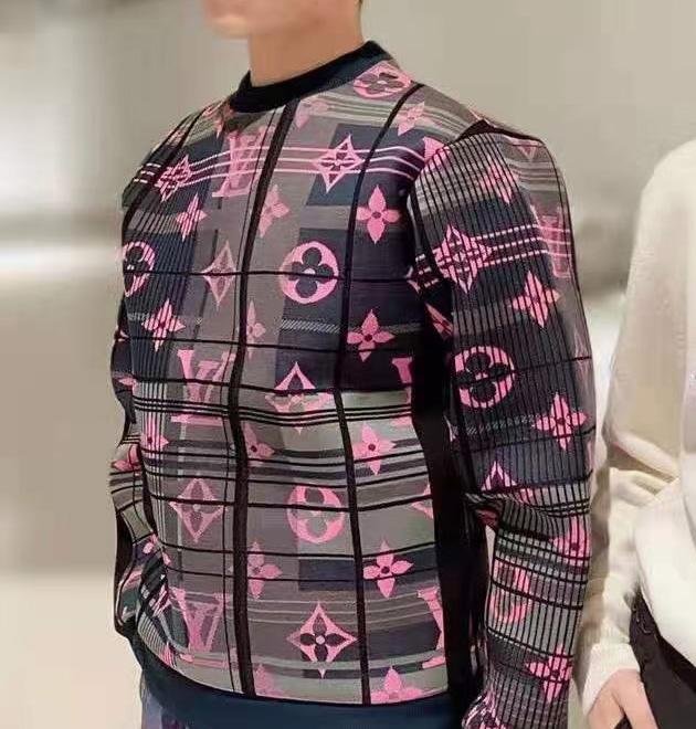 루이비통 모노그램 자카드 스웨트 티셔츠 - 레플킹