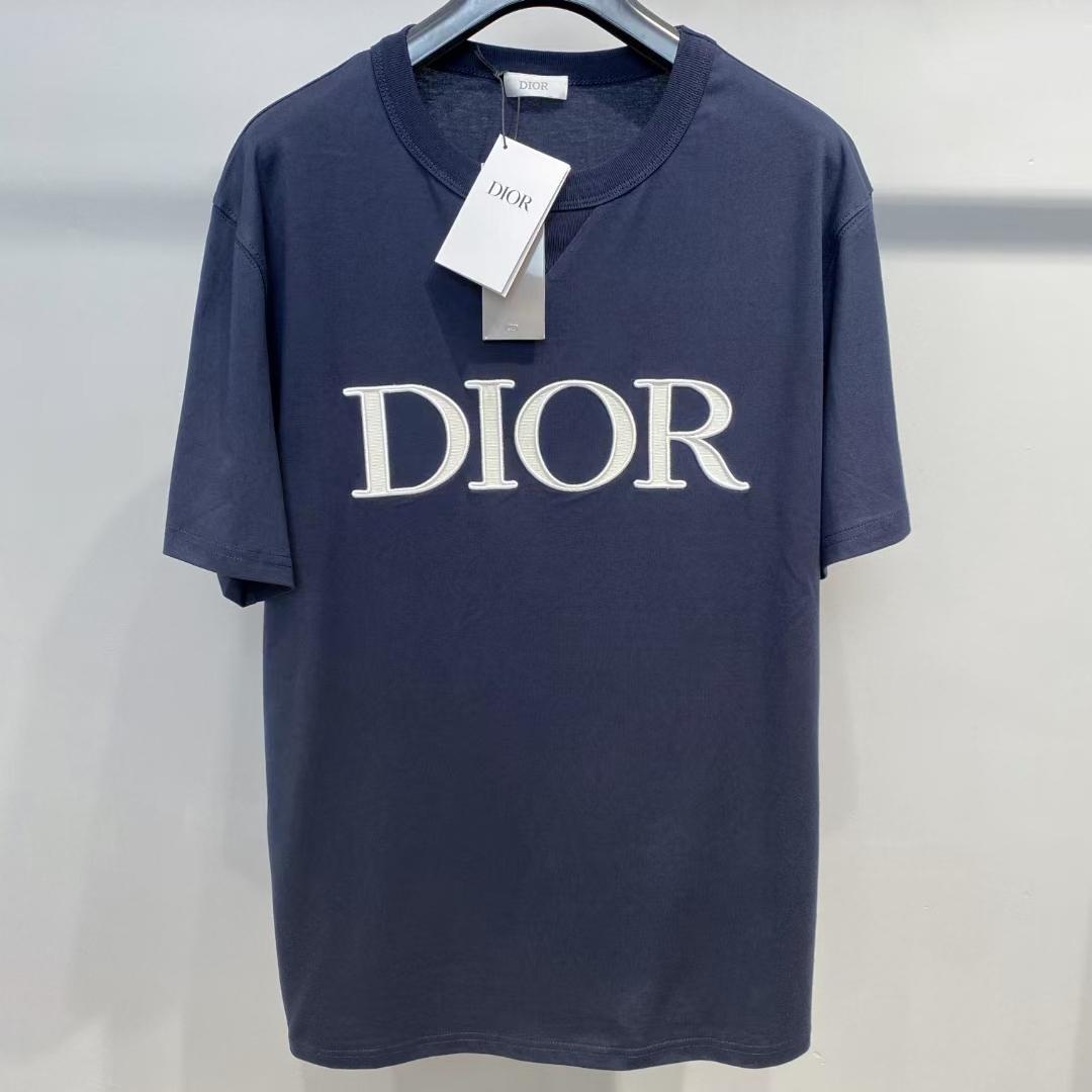 디올 로고 와펜 반팔 티셔츠 - 레플월드