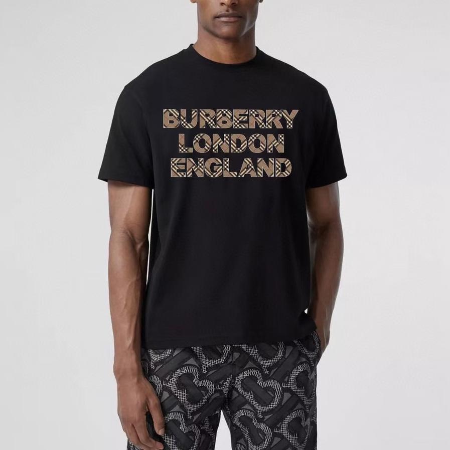 버버리 런던 잉글랜드 체크 로고와펜 반팔 티셔츠 - 레플월드