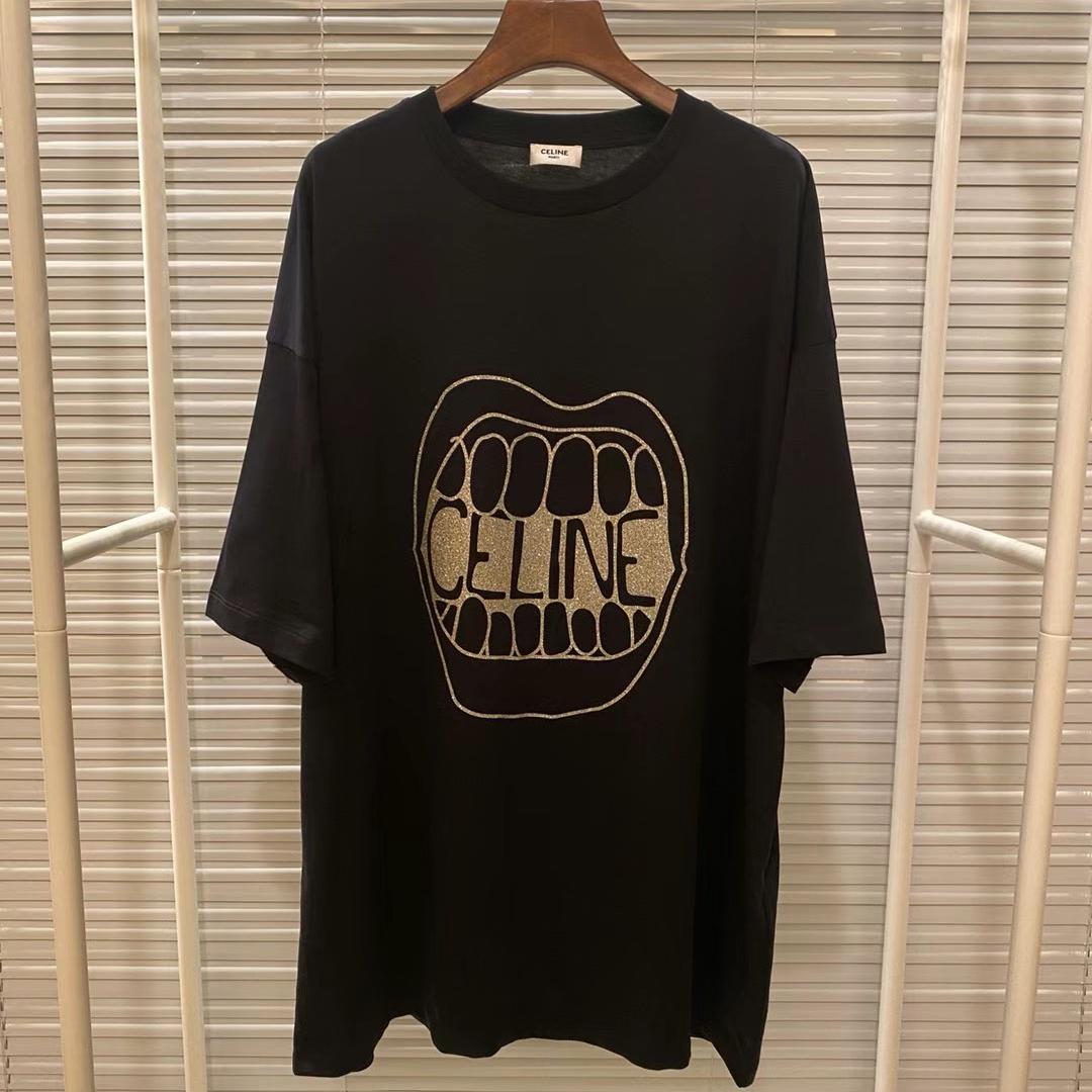 셀린느 마우스 로고 반팔 티셔츠 - 레플월드