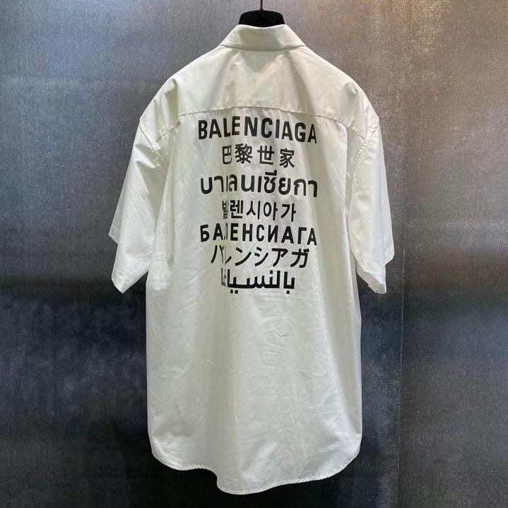 발렌시아가 랭귀지 반팔 셔츠 - 레플월드