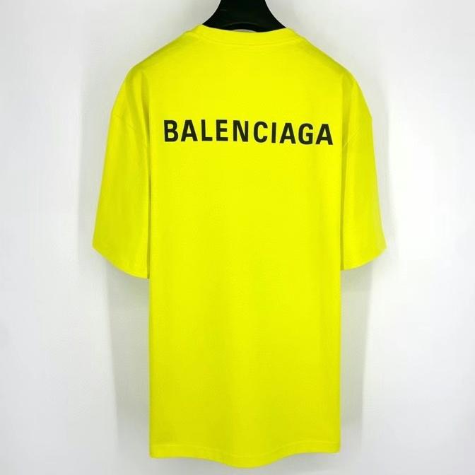 발렌시아가 백로고 네온 컬러 반팔 티셔츠 - 레플월드