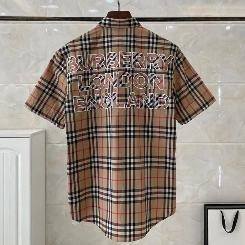 버버리 백 런던 잉글랜드 로고 반팔 셔츠 - 레플킹