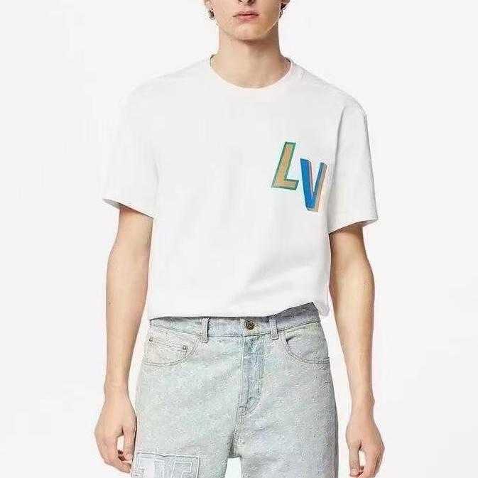루이비통 NBA콜라보 멀티 로고 반팔 티셔츠 - Repleking