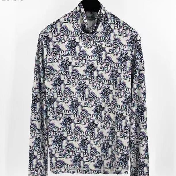 디올 KENNY SCHARF 멀티컬러 타이거프린트 테크니컬 롱슬리브 티셔츠 - Repleking