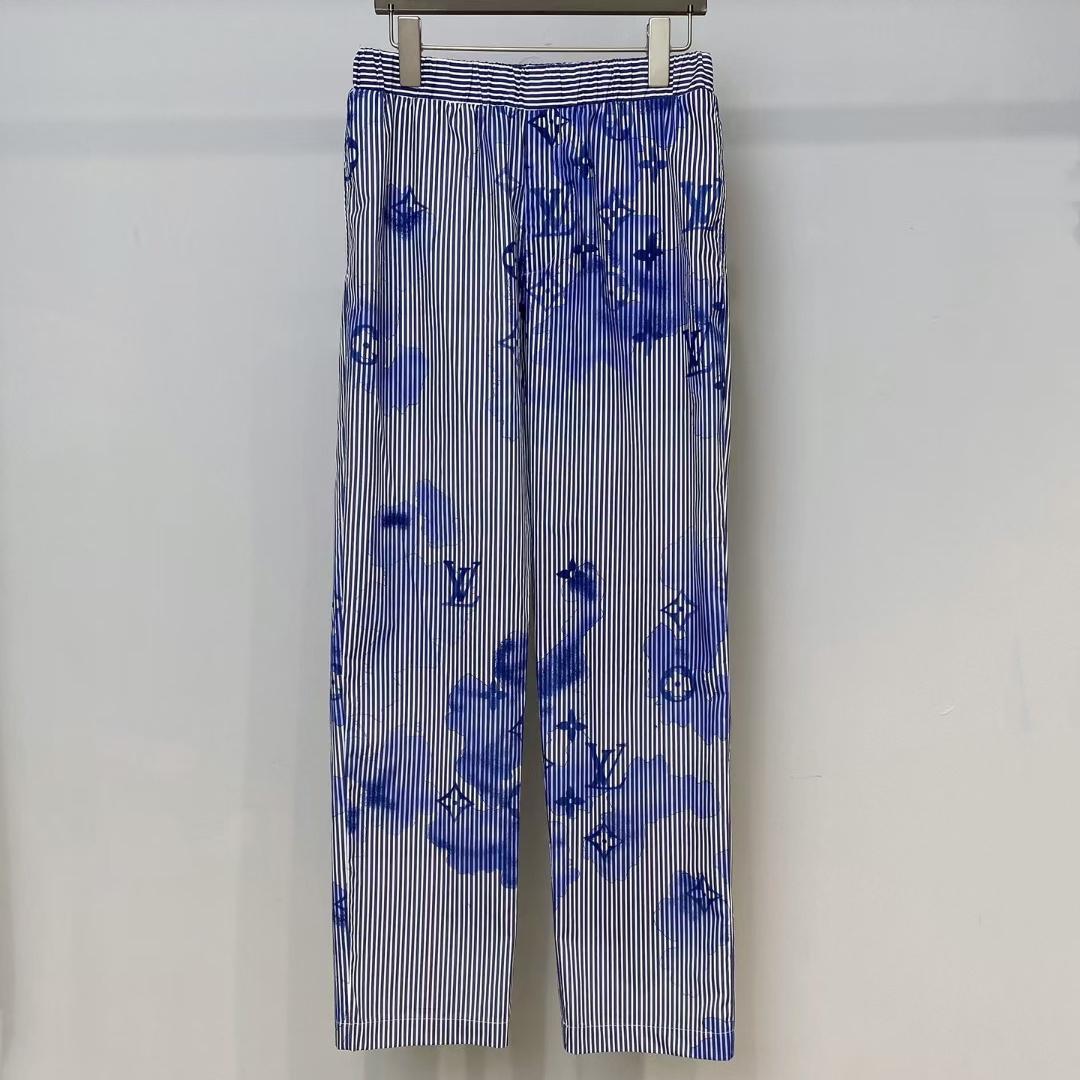 루이비통 블루 워터 컬러 모노그램 팬츠 - Repleking