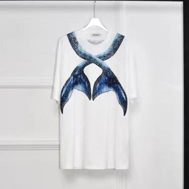 버버리 핀 프린팅 반팔 티셔츠 - 레플킹