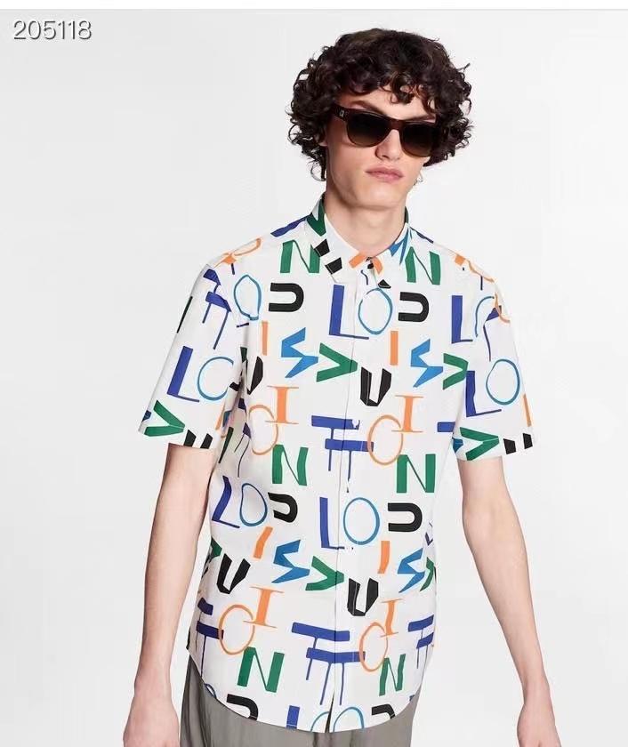 루이비통 알파벳 dna카라 반팔 셔츠 - 레플킹